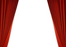 Roter Trennvorhang (mit Pfad) Stockbild