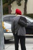 Roter Turban Lizenzfreie Stockfotografie