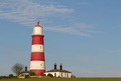 Roter u. weißer Leuchtturm Stockbild