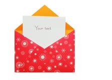 Roter Umschlag Lizenzfreies Stockfoto