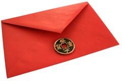 Roter Umschlag des Geldes. Lizenzfreie Stockfotos