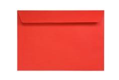 Roter Umschlag getrennt auf Weiß Stockbild