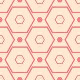 Roter und beige geometrischer Druck Nahtloses Muster Stockfotografie