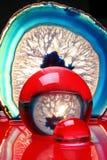 Roter und blauer Auszug Stockfoto