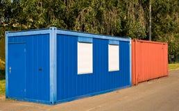 Roter und blauer Behälter Lizenzfreie Stockbilder