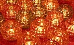Roter und brauner Glaskerzentopf-Musterhintergrund lizenzfreie stockfotografie