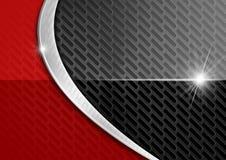 Roter und dunkler Metallzusammenfassungs-Hintergrund Lizenzfreie Stockfotos