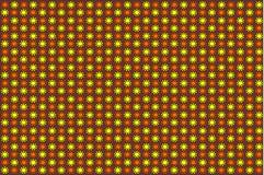 Roter und gelber abstrakter Vektor-mit Blumenhintergrund lizenzfreie abbildung