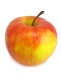 Roter und gelber Apfel auf dem weißen Hintergrund stockfotografie