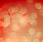 Roter und gelber bokeh Licht-Weinlesehintergrund stockfotos