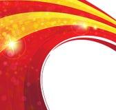 Roter und gelber konzentrischer Hintergrund Stockfoto
