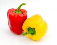 Roter und gelber Pfeffer Stockfotos