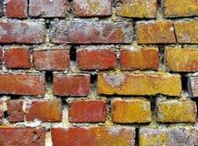 Roter und gelber Ziegelsteinhintergrund Lizenzfreies Stockfoto