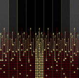 Roter und goldener und schwarzer Hintergrund Stockfotografie