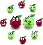Roter und grüner Apfel Stockfotografie