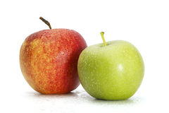 Roter und grüner Apfel Lizenzfreie Stockfotografie