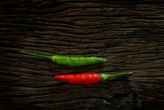 Roter und grüner Paprikapfeffer Lizenzfreies Stockbild