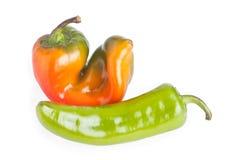 Roter und grüner Pfeffer lizenzfreies stockbild
