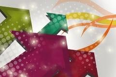roter und grüner Pfeil und Punkte, abstrakter Hintergrund Lizenzfreie Stockfotografie