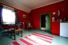 Roter und grüner rustikaler Innenraum Lizenzfreies Stockbild
