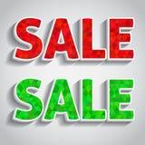 Roter und grüner Verkauf Stockbilder