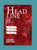 Roter und grauer Geschäftshintergrund mit Broschürendesign im siz A4 Stockbild