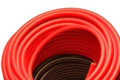 Roter und schwarzer Draht lizenzfreie stockbilder