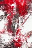 Roter und schwarzer Farbenauszug Stockfotografie