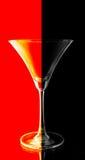 Roter und schwarzer Farbton auf schwarzem Hintergrund Stockfotografie