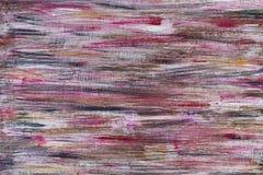 Roter und schwarzer Hintergrund der gemalten Beschaffenheit auf hölzerner Planke Lizenzfreies Stockfoto