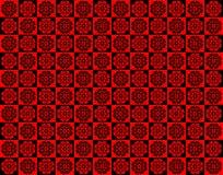 Roter und schwarzer Muster-Hintergrund Stockbilder