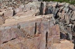 Roter und schwarzer Schiefer des träumerischen abgehobenen Betrages Stockfoto