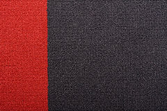 Roter und schwarzer Teppich Stockfotografie