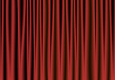 Roter und schwarzer Theatervorhang Stockfotos