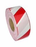 Roter und weißer Absperrband Stockbild