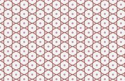 Roter und wei?er Kreis-Hexagon-Zusammenfassungs-Muster-Entwurf stock abbildung