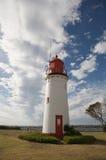 Roter und weißer Leuchtturm Stockfoto