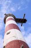Roter und weißer Leuchtturm Stockbild