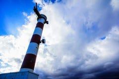Roter und weißer Leuchtturm Lizenzfreies Stockbild