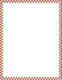 Roter und weißer Rand Lizenzfreies Stockfoto