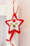 Roter und weißer Stern des Spielzeugs Lizenzfreies Stockfoto