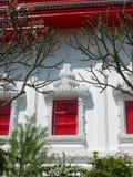 Roter und weißer Tempel in Hua Hin, Thailand stockfoto