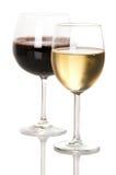 Roter und weißer Wein stockbilder