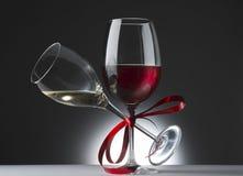 Roter und weißer Wein Stockfotos