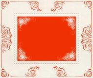 Roter und weißer Weinlesefahnenhintergrund Stockfoto