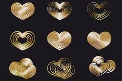 Roter Valentine Symbols Isolated auf weißem Hintergrund Stockfoto