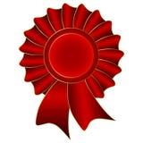 Roter Vektor-Aufkleber Stockfoto