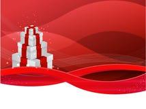 Roter vektorgeschenkkasten Stockfoto