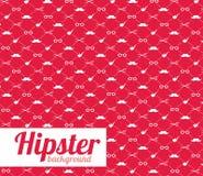 Roter Vektorhintergrund des Hippies Stockbild