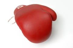 Roter Verpackenhandschuh lizenzfreie stockfotografie